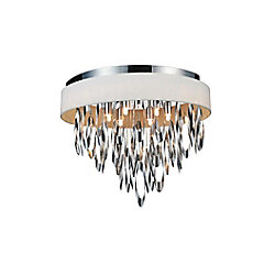 Excel 19 inch 6 Light Flush Mount with Chrome Finish