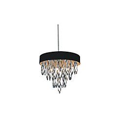 Excel 19-inch 6 Light Chandelier with Chrome Finish