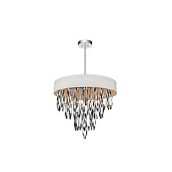 Excel 19 inch 6 Light Chandelier with Chrome Finish