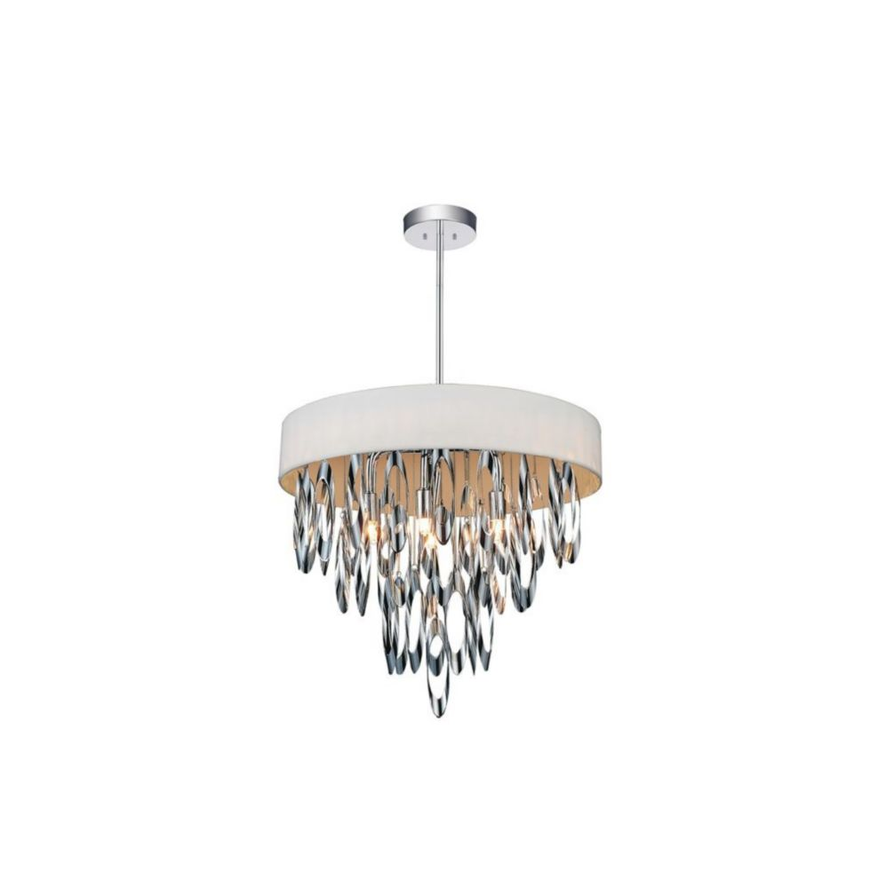 CWI Lighting Excel 19 inch 6 Light Chandelier with Chrome Finish