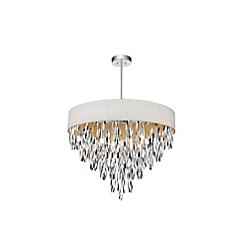 Excel 23 inch 8 Light Chandelier with Chrome Finish