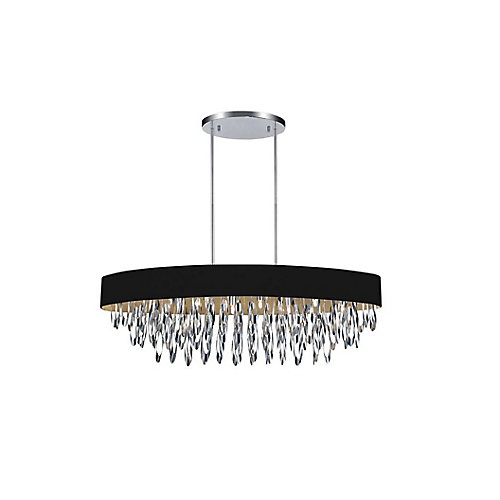 Excel 41-inch 8 Light Chandelier with Chrome Finish