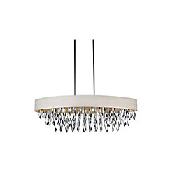 Excel 41 inch 8 Light Chandelier with Chrome Finish