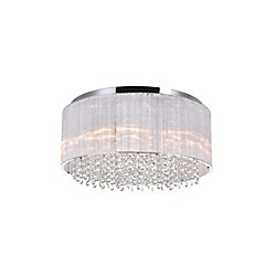 Spring Morning 20 inch 8 Light Flush Mount with Chrome Finish
