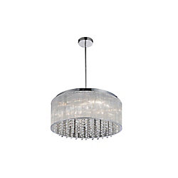 Spring Morning 20 inch 7 Light Chandelier with Chrome Finish