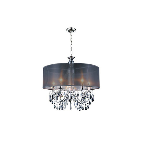 Halo 22 inches 5 Light Chandelier with Chrome Finish