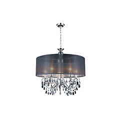 Halo 28-inch 8 Light Chandelier with Chrome Finish