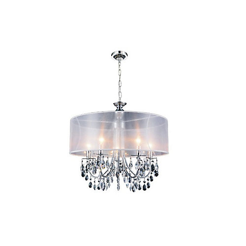 Halo 28 inch 8 Light Chandelier with Chrome Finish