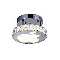 CWI Lighting Rosemary 10 inch LED Light Flush Mount with Chrome Finish