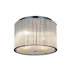 Colbert 12-inch 4-Light Flush Mount Light Fixture with Chrome Finish