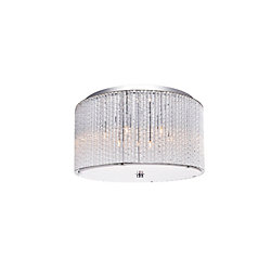 Colbert 16 inch 6 Light Flush Mount with Chrome Finish