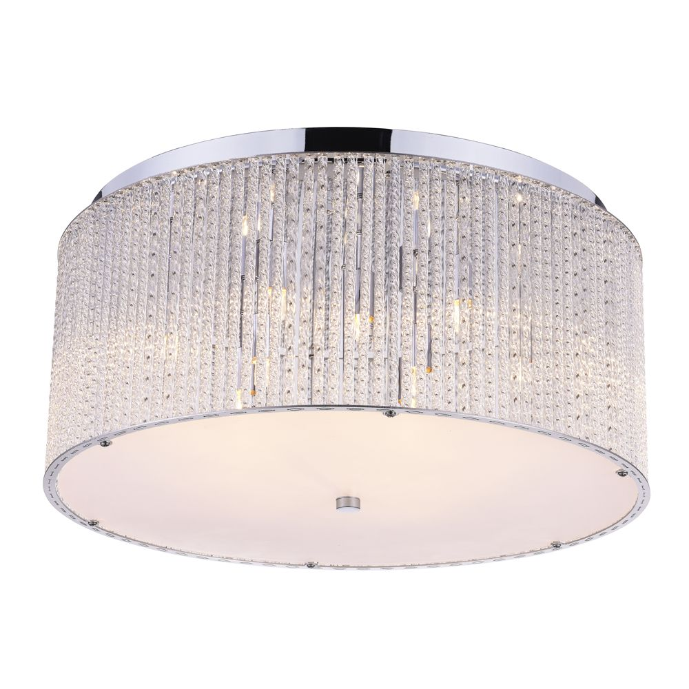 CWI Lighting Colbert 20 inch 9 Light Flush Mount with Chrome Finish