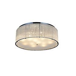 Colbert 24 inch 14 Light Flush Mount with Chrome Finish