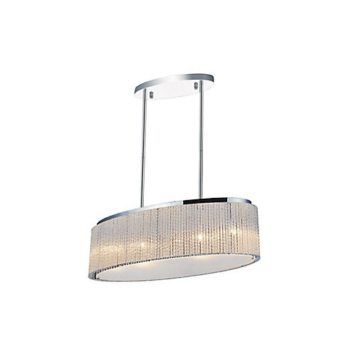 Colbert 10 inch 5 Light Chandelier with Chrome Finish