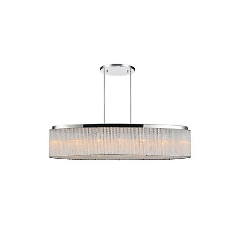 Colbert 10 inch 7 Light Chandelier with Chrome Finish