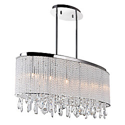 Benson 10-inch 5 Light Chandelier with Chrome Finish