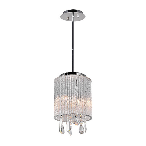 Benson 8 inch 2 Light Mini Pendant with Chrome Finish