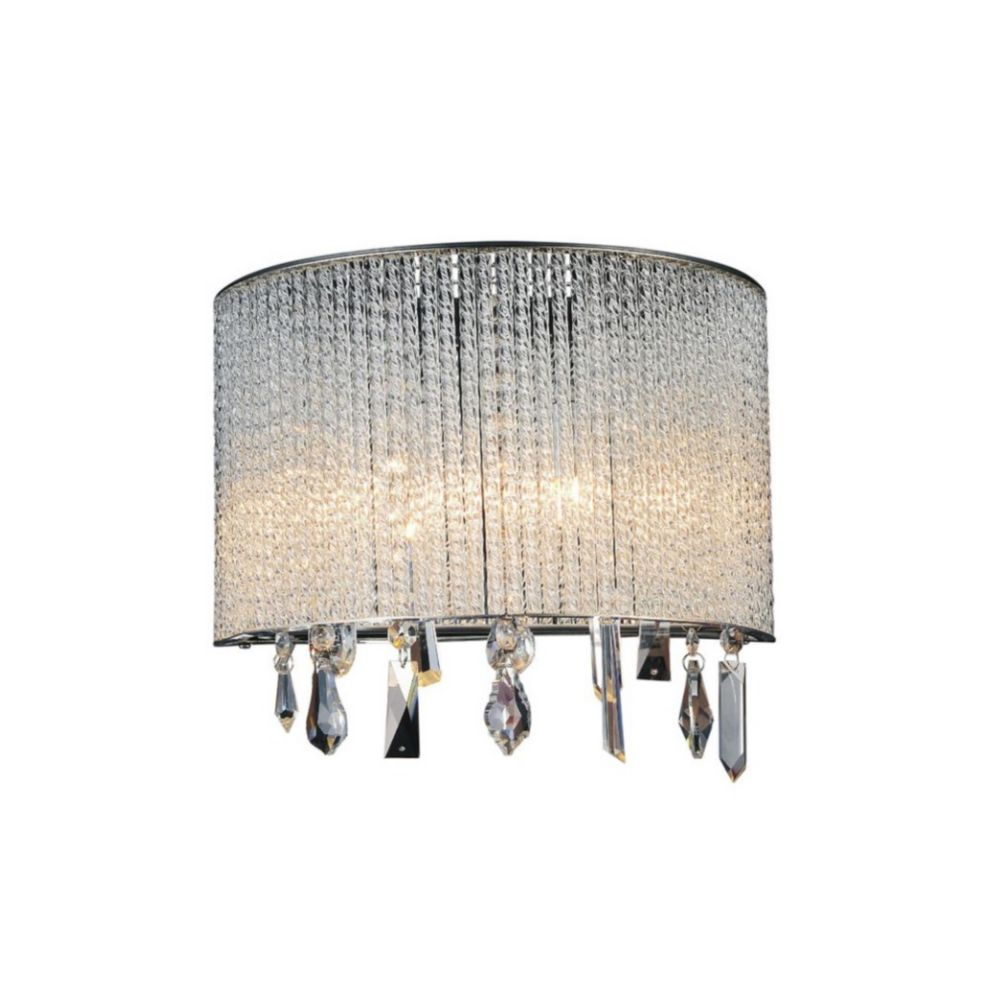 CWI Lighting Benson 12 inch 2 Light Wall Sconce with Chrome Finish