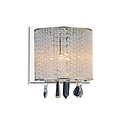 Benson 8 inch Single Light Wall Sconce with Chrome Finish