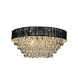 CWI Lighting Atlantic 18 inch Six Light Flush Mount with Chrome Finish
