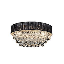 Atlantic 22 inch Eight Light Flush Mount with Chrome Finish