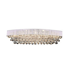 Atlantic 36 inch 10 Light Flush Mount with Chrome Finish