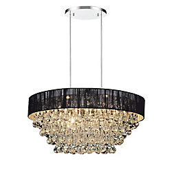 Atlantic 18-inch 6 Light Chandelier with Chrome Finish