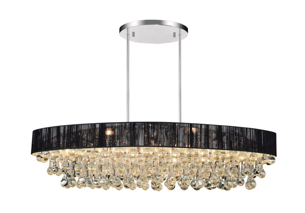 CWI Lighting Atlantic 30-inch 6 Light Chandelier with Chrome Finish
