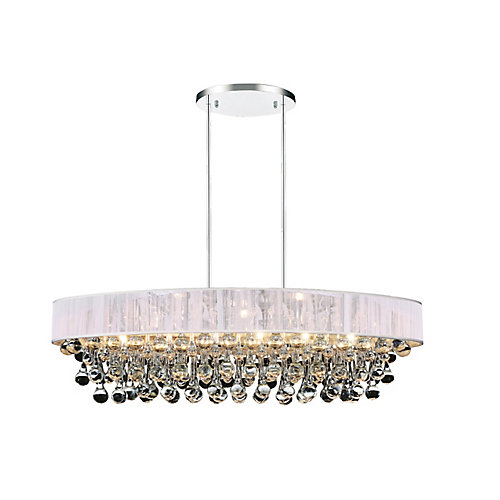 Atlantic 30 inch 6 Light Chandelier with Chrome Finish