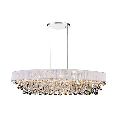 Atlantic 36 inch 10 Light Chandelier with Chrome Finish