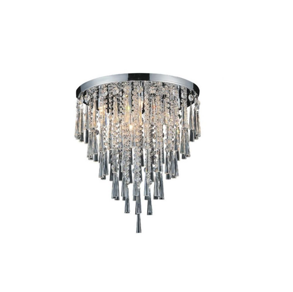 CWI Lighting Blissful 20.8 inch 8 Light Flush Mount with Chrome Finish