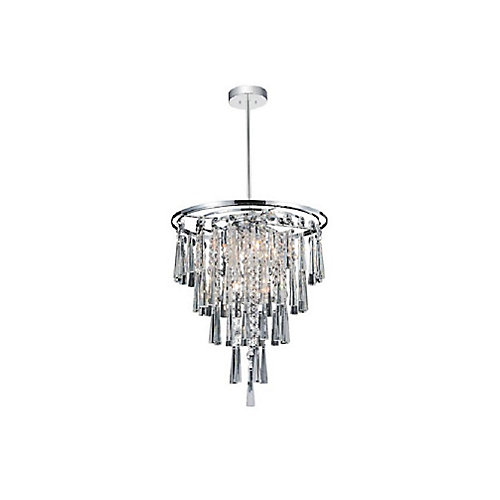 Blissful 16 inch 6 Light Chandelier with Chrome Finish