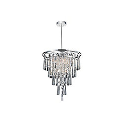 CWI Lighting Blissful 16 inch 6 Light Chandelier with Chrome Finish