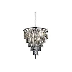 Blissful 20.8 inch 8 Light Chandelier with Chrome Finish