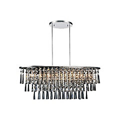 Blissful 12 inch 8 Light Chandelier with Chrome Finish