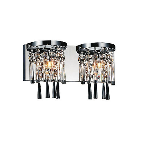 Blissful 16 inch 2 Light Wall Sconce with Chrome Finish