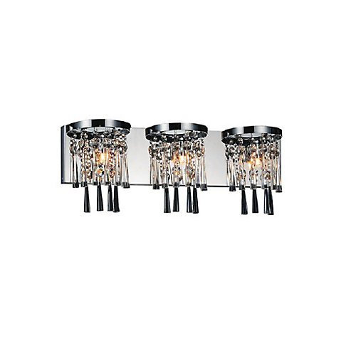 Blissful 24 inch 3 Light Wall Sconce with Chrome Finish