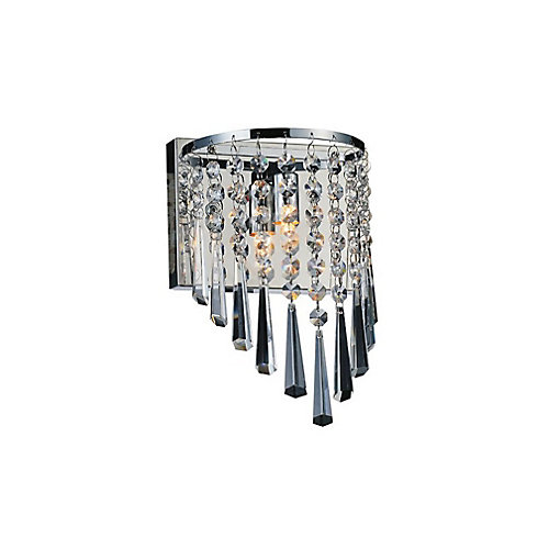 Della 7 inch 1 Light Wall Sconce with Chrome Finish