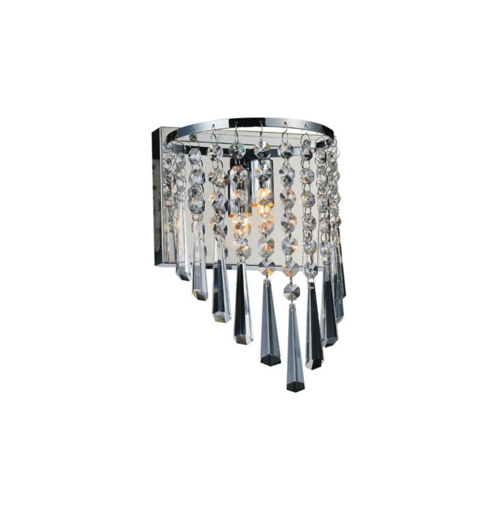 CWI Lighting Della 7 inch 1 Light Wall Sconce with Chrome Finish