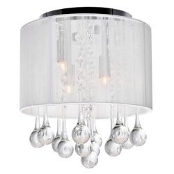CWI Lighting Water Drop 11.2 inch 4 Light Flush Mount with Chrome Finish