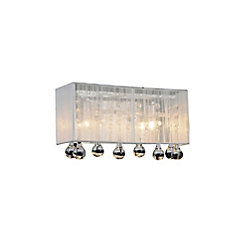 Water Drop 12 inch 2 Light Wall Sconce with Chrome Finish