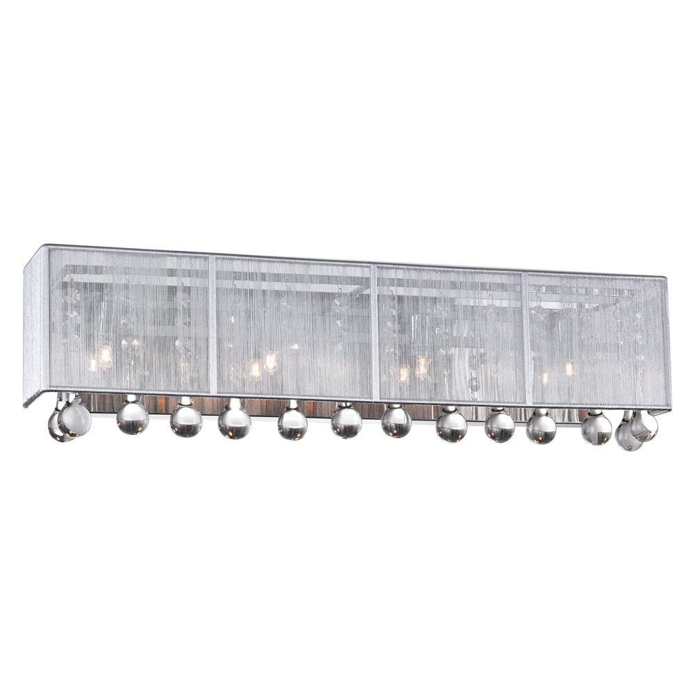 Water Drop 24 inch 4 Light Sconce with Chrome Finish