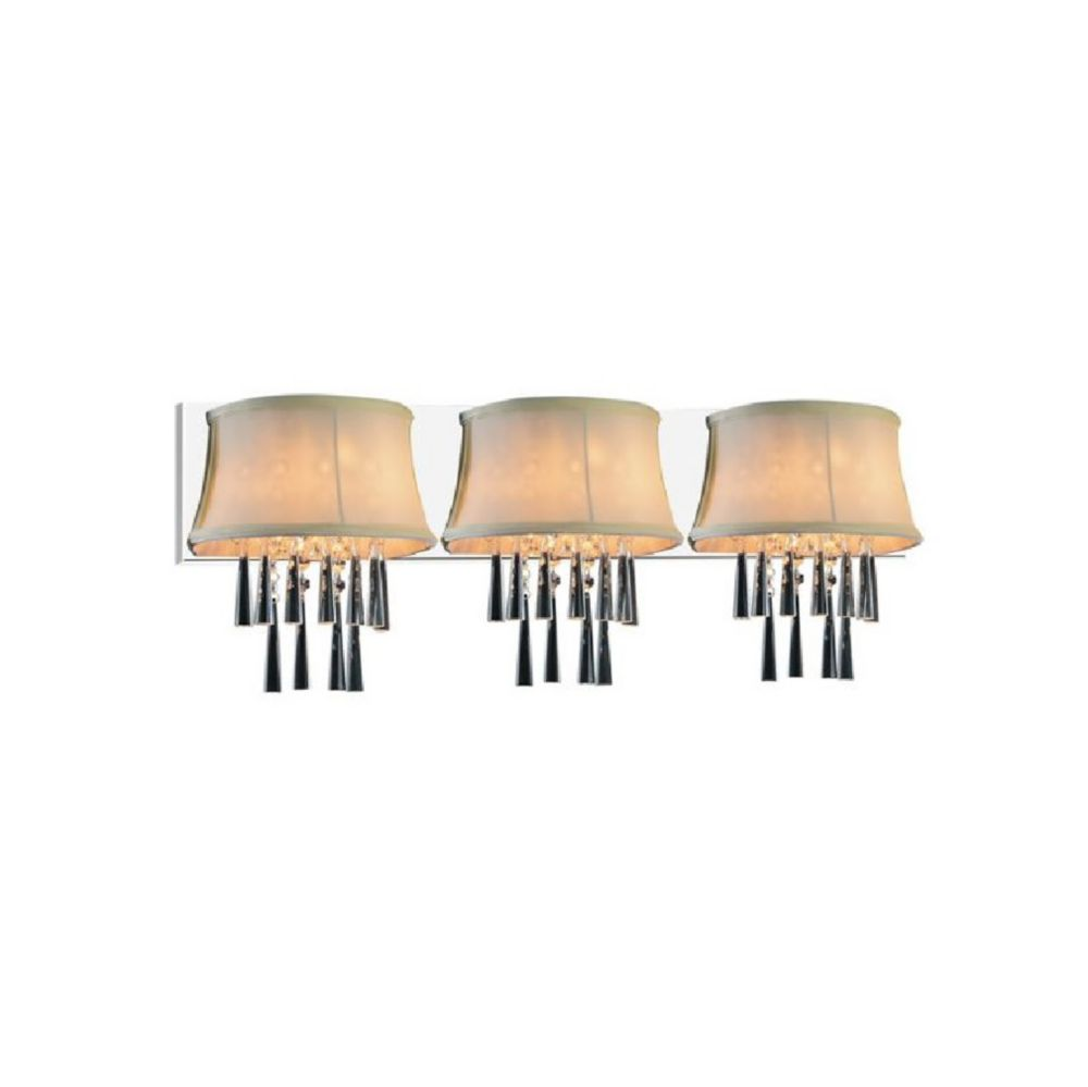 Audrey 32-inch 3 Light Wall Sconce with Chrome Finish