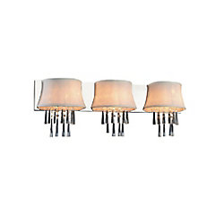 Audrey 32 inch 3 Light Wall Sconce with Chrome Finish
