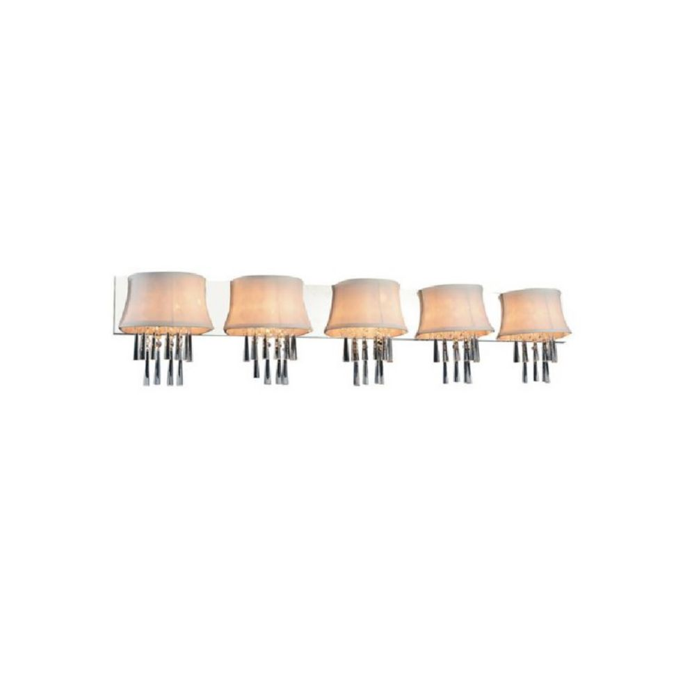 CWI Lighting Audrey 54 inch 5 Light Wall Sconce with Chrome Finish