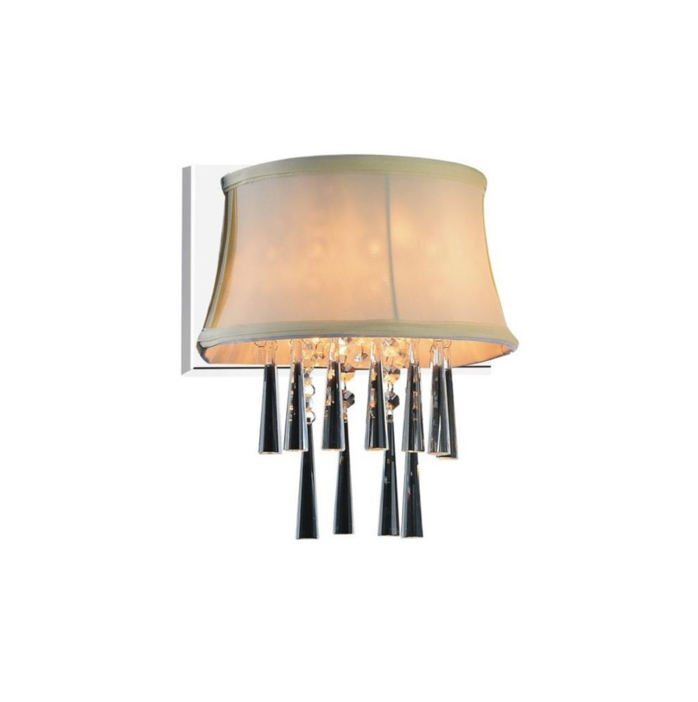 CWI Lighting Audrey 9 inch Single Light Wall Sconce with Chrome Finish