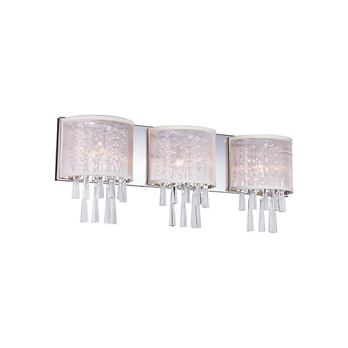 Renee 29-inch 3 Light Wall Sconce with Chrome Finish