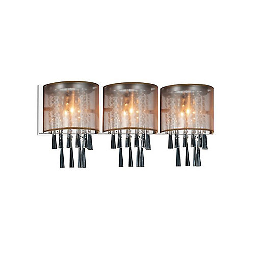 Renee 29 inch 3 Light Sconce with Chrome Finish