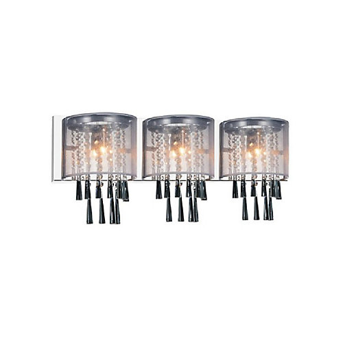 Renee 29 inch 3 Light Wall Sconce with Chrome Finish