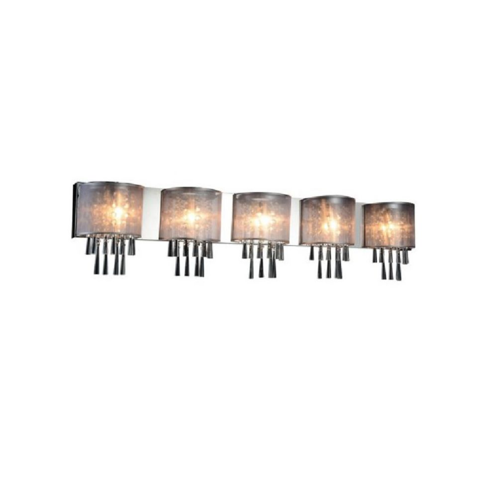 Renee 49 inch 5 Light Wall Sconce with Chrome Finish